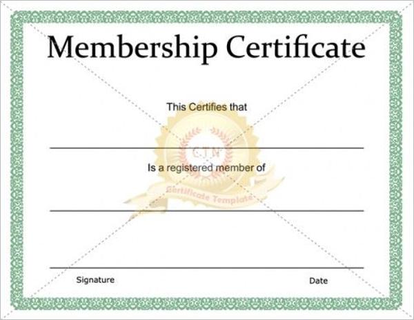 Free Church Membership Certificate Template
