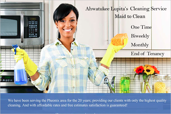 Free Cleaning Flyer Template