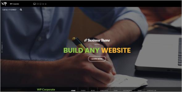 Free Corporate Ecommerce WordPress Theme