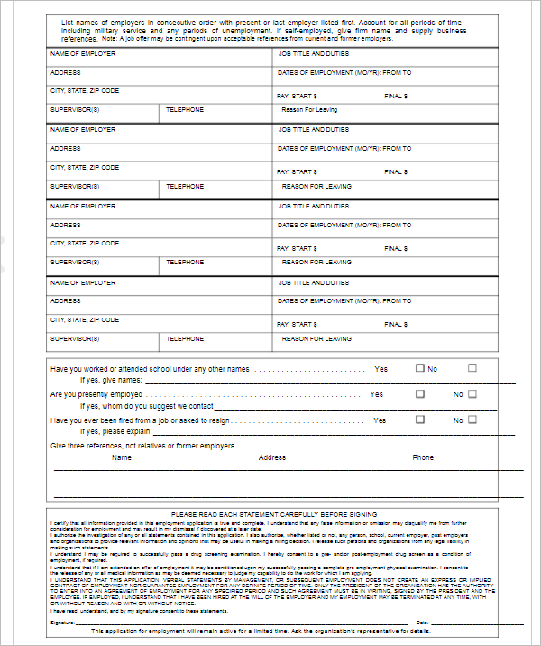 30  application form templates free word  excel  pdf examples
