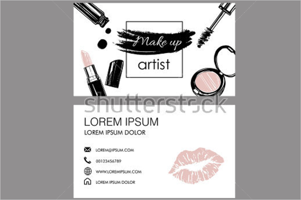 Free Makeup Artist Business Card Template