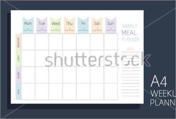 Free Menu Calendar Template