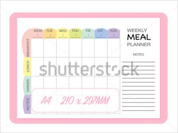 Free Menu Planner Design