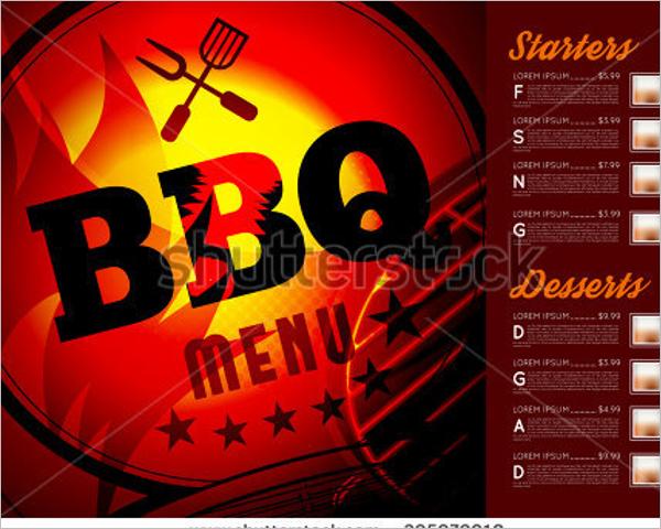 Free Menu for BBQ Design