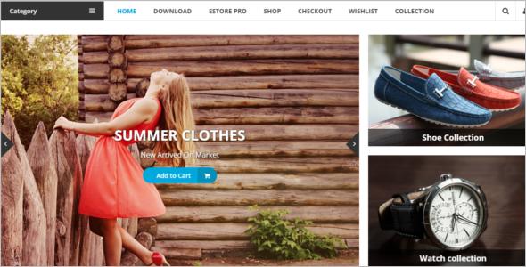 Free Shopping Ecommerce WordPress Theme