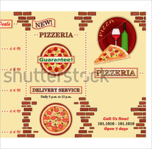 Free Take Away Menu Design
