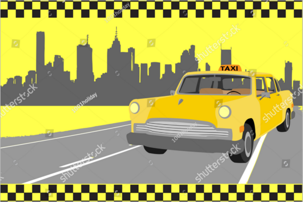 Free taxi business card template