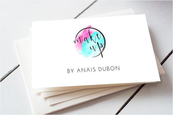 Freelancer Makeup Business Card Design