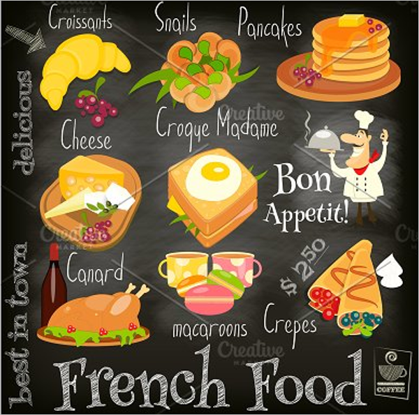 French Food Menu Template