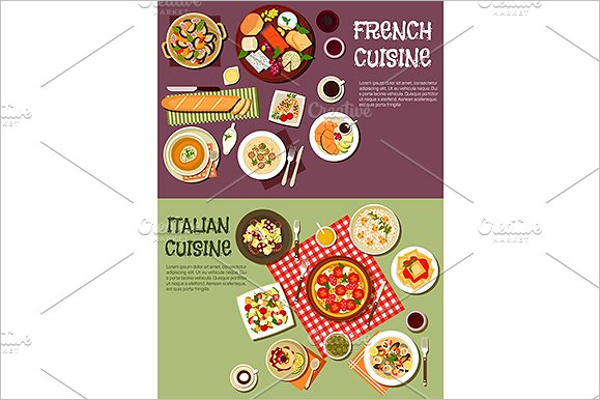 French & Italian Menu Template