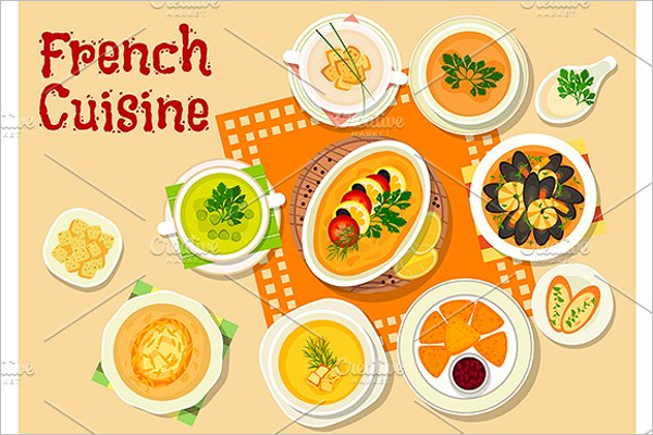 French Restaurant Lunch Menu Template