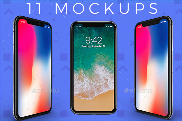 Fully Customizable iPhone X Mockup