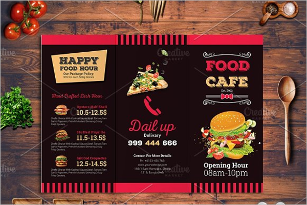 Fully Editable Take Out Menu Design
