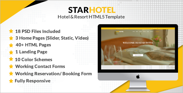 Fully Responsive Hotel Website Template