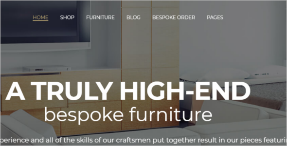Furniture Website WordPress Theme