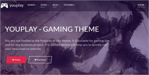 Game Hosting Website Template