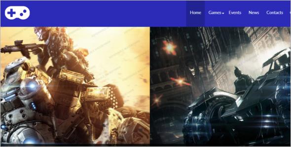 Game Portal Responsive Website Template