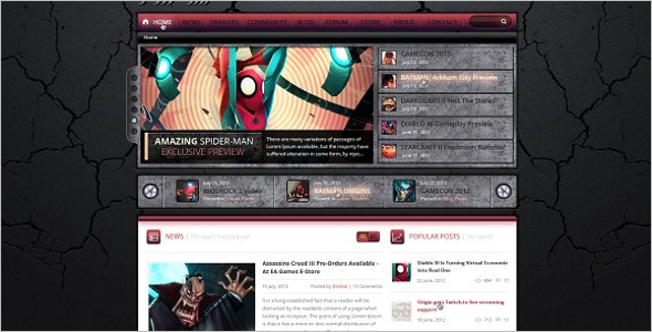 Game Studio Website Template