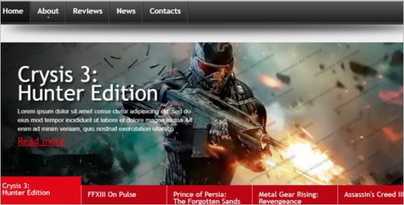 Game Website Template Example