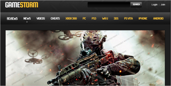 Gaming Community Website Template