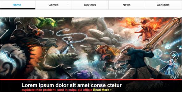 Gaming Website Design Ideas