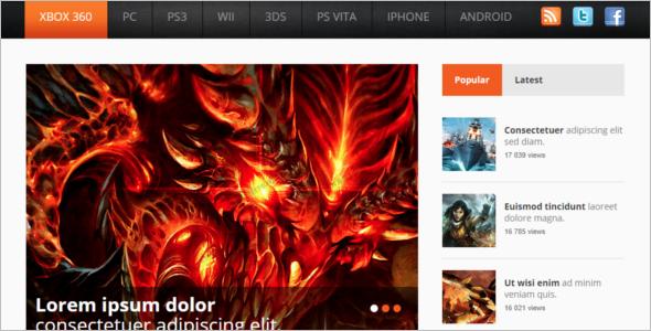 Gaming Website Design Inspiration