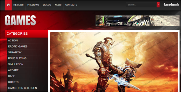Gaming Website Design Template