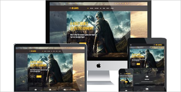 Best Gaming Website Templates Free Premium Themes - Gaming website template