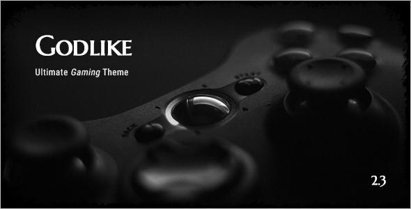 Gaming Website Template PSD