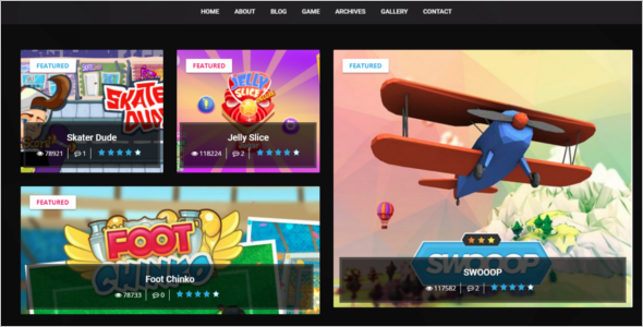 Gaming WordPress Responsive Theme