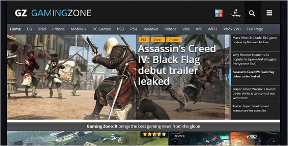 Gaming Zone website Template
