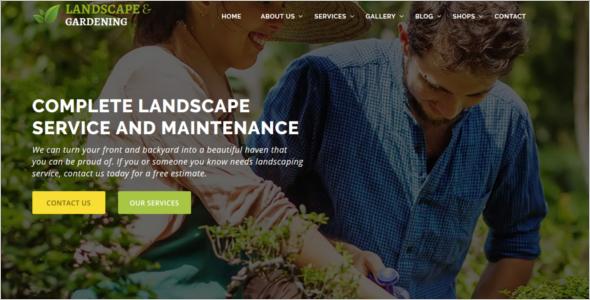 Gardening Website Template