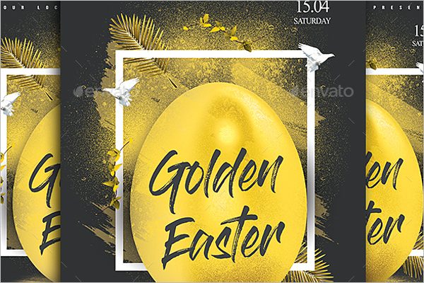 Golden Easter Flyer Template