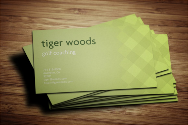 Golf Coaching Business Card