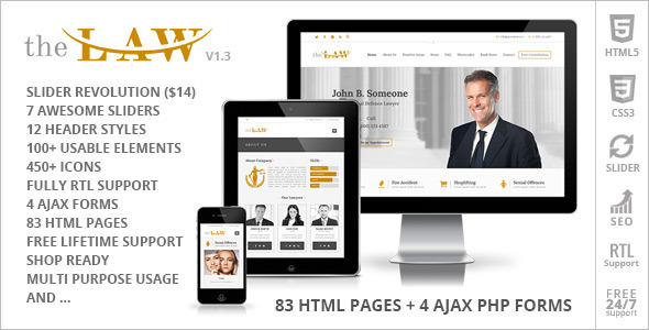 Government Responsive Websites Template