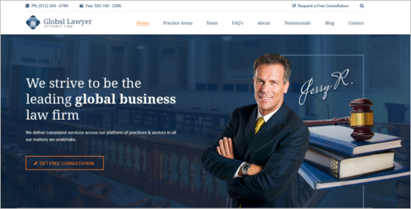 Government Website Template Bootstrap