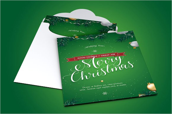Green Christmas Greeting Card