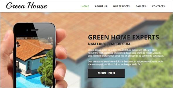 Green House Construction Website Template