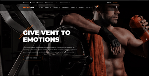 Gym Fitness HTML Template