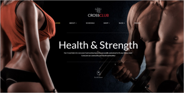 Gym Multi Page Website Template