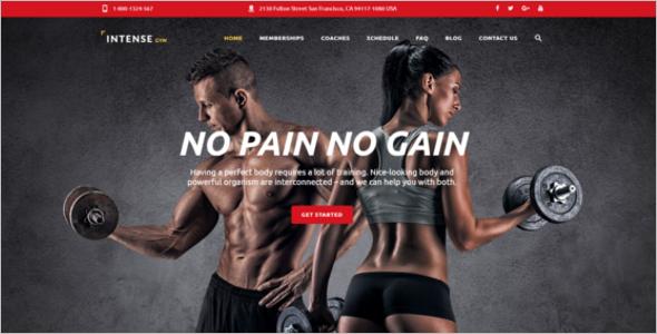 Gym Website Design Template