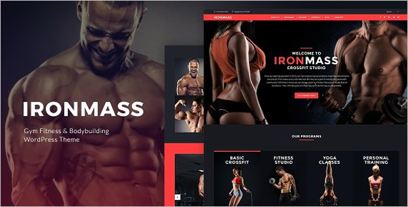 Gym Website Template Bootstrap