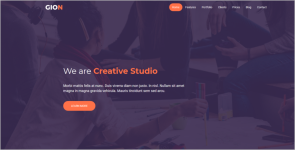 HTML One Page Website Template