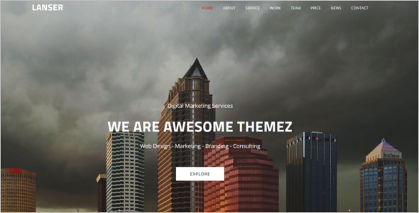 HTML Web Page Design Template