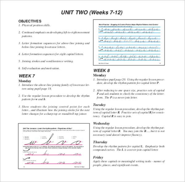 Handwriting Chart Template Word