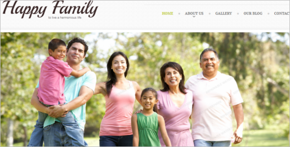 Happy Family Website Template