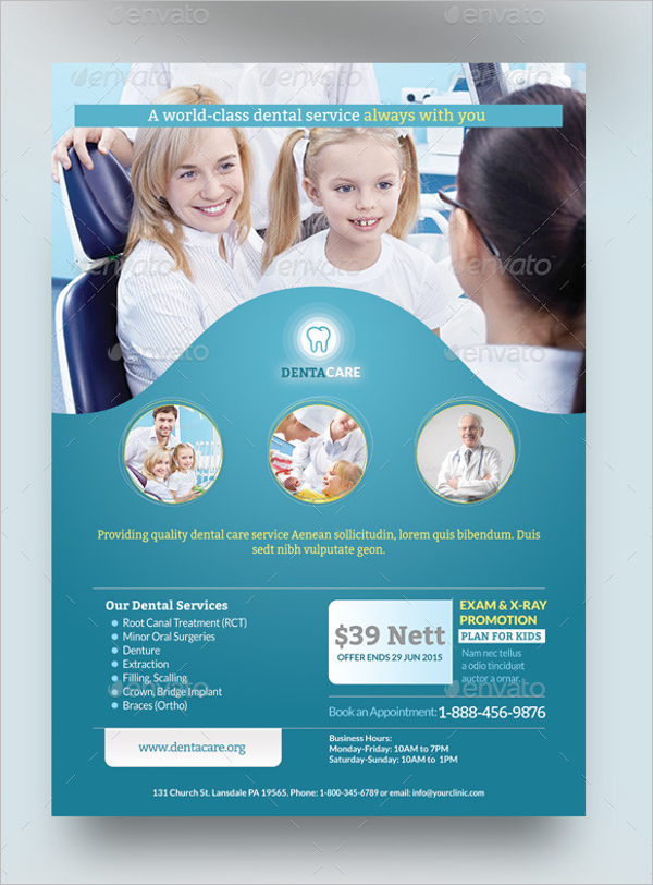 Healthcare Dental Flyer Template