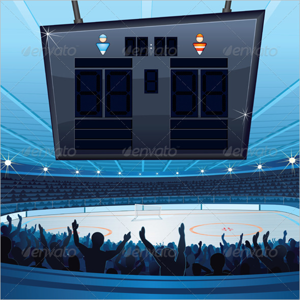 Hockey Stadium Scoreboard Template