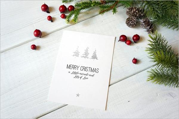 Holiday Christmas Card Mockup