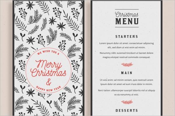 20 holiday menu templates free word psd menu designs. Black Bedroom Furniture Sets. Home Design Ideas